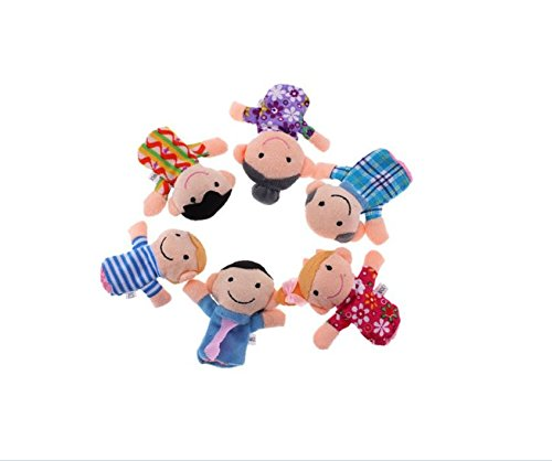 6Pcs Family Finger Puppets Cloth Doll Play Game Story Plush Gift - People Includes Mom, Dad, Grandpa, Grandma, Brother, (Life Size Grinch)
