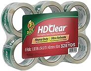 Duck HD Clear Heavy Duty Packing Tape Refill, 6 Rolls, 1.88 Inch x 54.6 Yard, (441962)