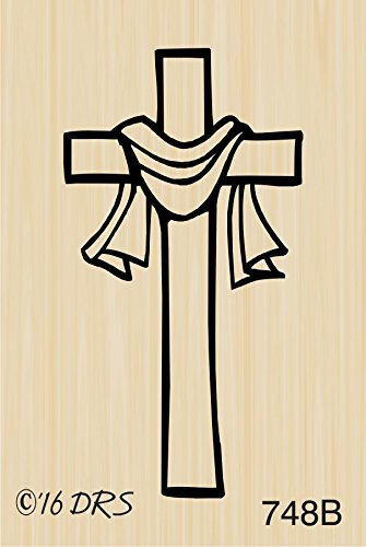 Small Easter Cross Rubber Stamp By DRS Designs Rubber Stamps