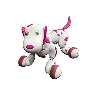 - 41gX13Zd46L - A-Parts Smart Robot Pet Rc Dog Remote Control by Wireless Dancing Toy for Children Color Pink