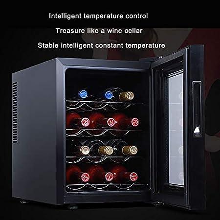 CLING Compresor de 12 Botellas Enfriador de Vino Refrigerador Gran Bodega Independiente Protección contra la radiación Ahorro de energía y silencioso Control Inteligente de Temperatura
