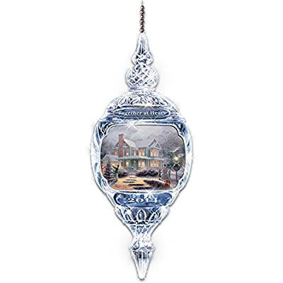 Thomas Kinkade Annual Crystal Ornament by The Bradford Editions