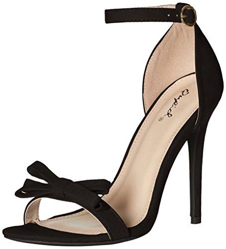 Qupid Women's Ara-245 Dress Sandal Black z73N7z3