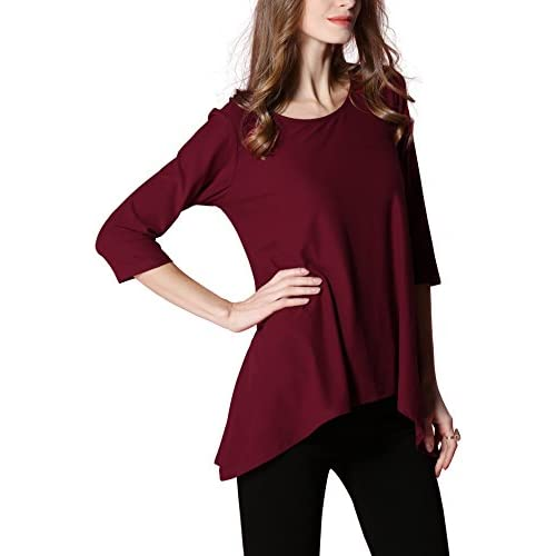 670b99bc26d good Girl2Queen Summer Women s 3 4 Sleeve Tunic Top Plus Size