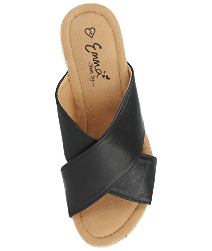 fille Black Compensées Sandales Footwear Foster Mule femme UqwP08xR