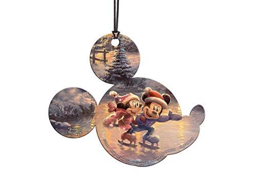 Trend Setters Disney - Mickey and Minnie Sweetheart Holiday - Thomas Kinkade - Mickey Shaped Hanging Acrylic Decoration