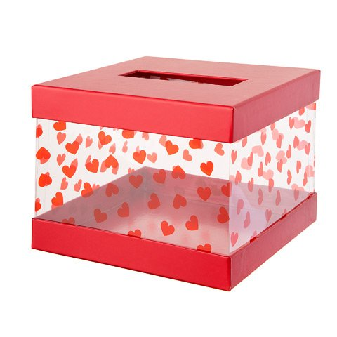 Darice Valentine's Day Mailbox Kit: Red/Clear