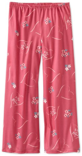 Life is Good Girl's Sleep Pant, Tossed Heart, Dusty Pink, Small (Life Pants Is Good Lounge)