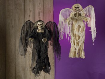 Morris Costumes Halloween Hanging angel of death ivory