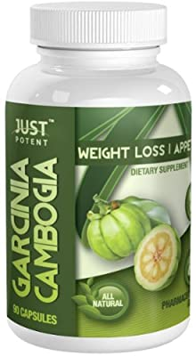 ? Just Potent Pharmaceutical Grade Garcinia Cambogia ? 65% HCA ? 1600mg Strong ? 60 Capsules ? Garcinia Cambogia Extract and Potassium Only ?