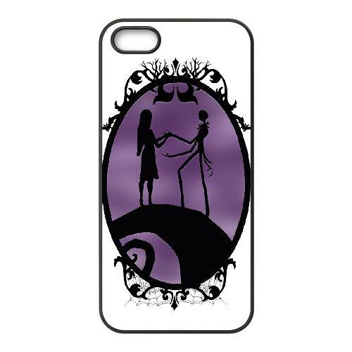 Nightmare Before Christmas 012 coque iPhone 4 4S Housse téléphone Noir de couverture de cas coque EOKXLKNBC20284