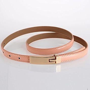 YANGFEIFEI-PD Elegante y práctico, el cinturón pélvico delgado kraft elegante pintura embellecedor de cuero cadena de cintura,uno-tamaño, Rosa: Amazon.es: ...