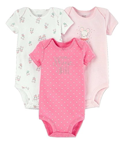 Baby Girl Set of 3 Bodysuits - Ballerina Mouse - Sparkle, Shine, Twirl - Just One You Carters - Newborn