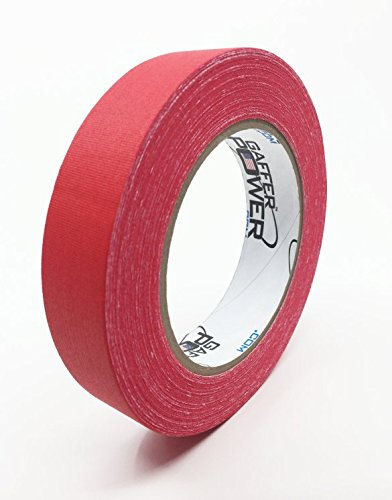 Real Professional Premium Grade Gaffer Tape by Gaffer Power- Made in The USA, RED 1 Inch X 30 Yards, Heavy Duty Gaffer's Tape - Non-Reflective, Multipurpose, Better Than Duct Tape -