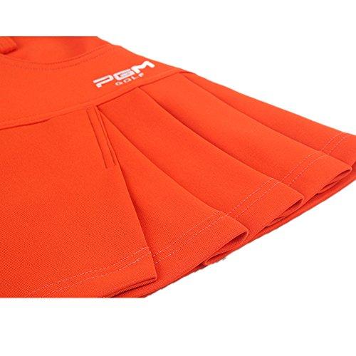 JP Flyer ゴルフ スカート レディース ファッション コットン ストレッチ インナーパンツ付き 無地 軽量 通気性 静電気防止 ピリング防止加工 プリーツスカート