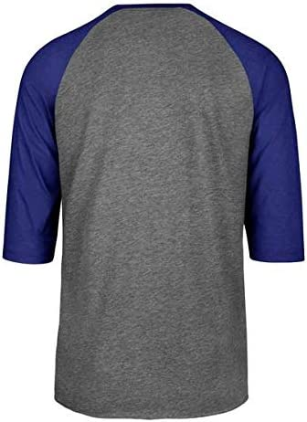 NBA Gray Slate Tee Shirt 47 Brand Mens Raglan Imprint Club 3//4 Sleeve T-Shirt