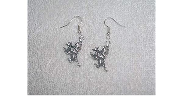 Flying Dragon Wings Pair of Earrings Jewelry Piercing Fashion Handmade