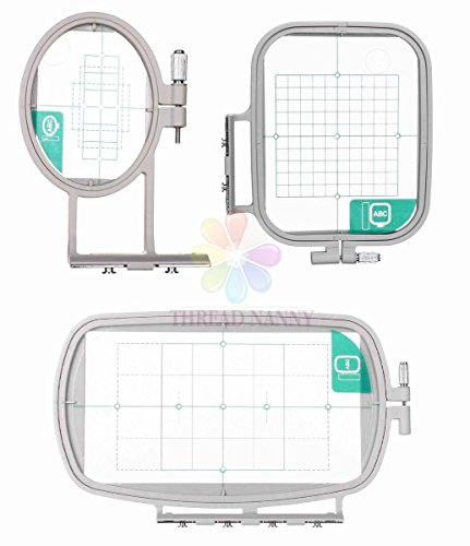 3-Hoop Machine Embroidery Set for Brother SE270D, PE-300S, HE-120, Innov-ís 900D, SE350, HE-240, LB6770, LB6770 PRW, Innov-ís 950D, SE400, LB6800PRW, PE500, SE425, LB6800THRD Embroidery Machine