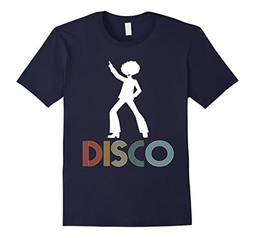 [Mens Retro Disco Dancing Shirt for 70s Disco Dancer Gift 2XL Navy] (70s Outfits Men)