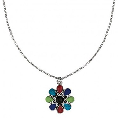 - Montana Silversmiths Canyon Colors Concho Necklace - Multicolored