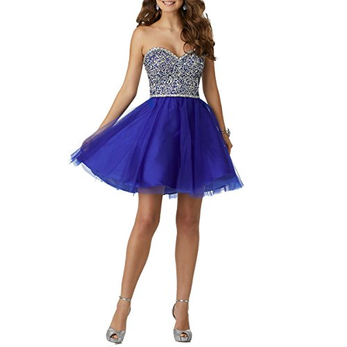 Evening Sweetheart Dress Tulle Womens Blue Beauty Royal Bridal Gowns Party Short Homecoming q78xEwtpwH