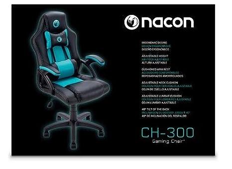 Nacon Silla de Gaming, Poliuretano, Negro, 52x60.5x119 cm