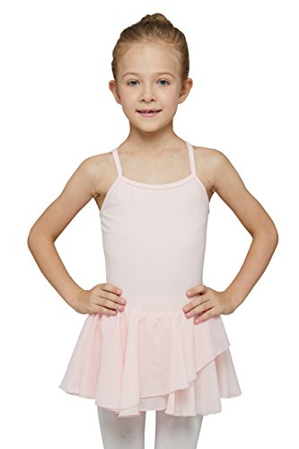 MdnMd Girls' Skirted Camisole Leotard (Tag 110) Age 2T - 4T, Ballet Pink -