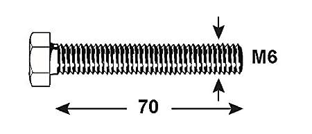 DIN 933 KL4080850 Connex Sechskantschrauben M8 x 50 mm 1000 g verzinkt