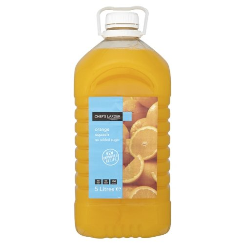 Chef's Larder Orange Squash No Added Sugar 5 Litres Chef' s Larder