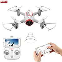 Drone with Live Camera, OCDAY SYMA X22W RC Mini Wifi FPV Quadcopter 6-Axis Gyro with APP Control, Attitude Hold, Headless Model for Kids & Beginners(White)