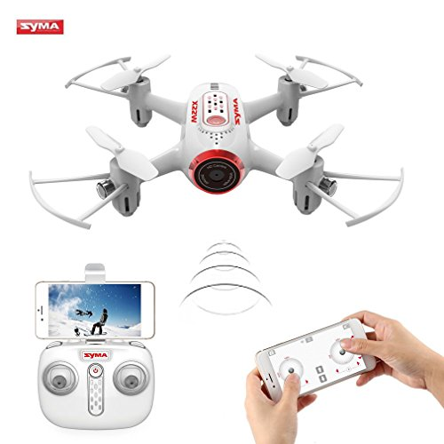 FPV RC Drone OCDAY SYMA X22W Wifi Mini FPV Quadcopter 6-Axis Gyro Real-Time Transmission Camera Drone with APP Control, Headless Mode for Indoor & Outdoor Fly (White)