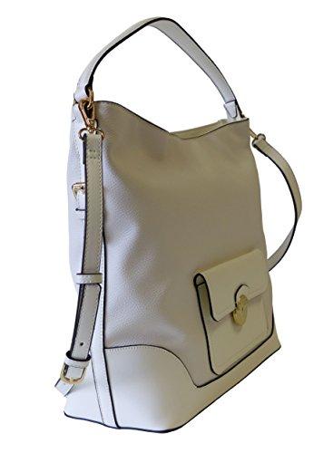 Valentino by Mario Valentino Tasche Anemone VBS1M202STD Bianco Damen Handtasche Schultertasche Umhängetasche Weiß (34 cm x 34 cm x 15 cm)