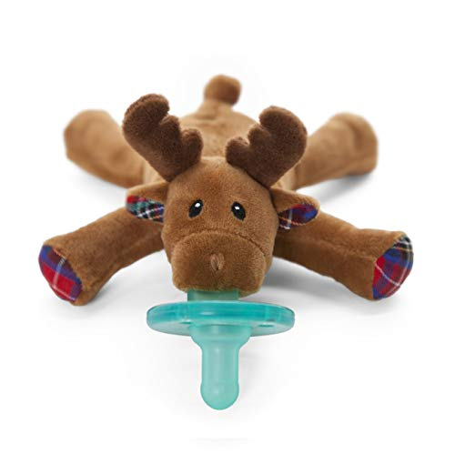Wubbanub Infant Pacifier - Reindeer (Wubbanub Pacifier Toy)