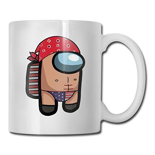Among Us Ricardo Milos Coffee Mug, Tea Cup for Office and Home- Makes a Great Gift for Gamers,11OZ