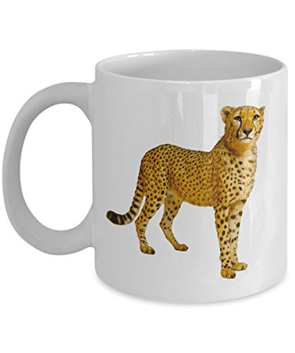 Cheetah Big Cats Coffee Mug | Mugs are Fun Gifts for Wildlife Safari Hunters Photographers Lovers as a Birthday Appreciation Coworker Retirement Christmas Gift | Perfect Africa Animal Kingdom Collect