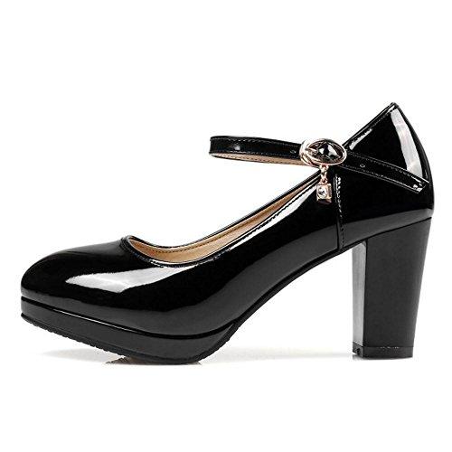 Tacon para RAZAMAZA Zapatos Mujer Black Ancho de 6UxAwR