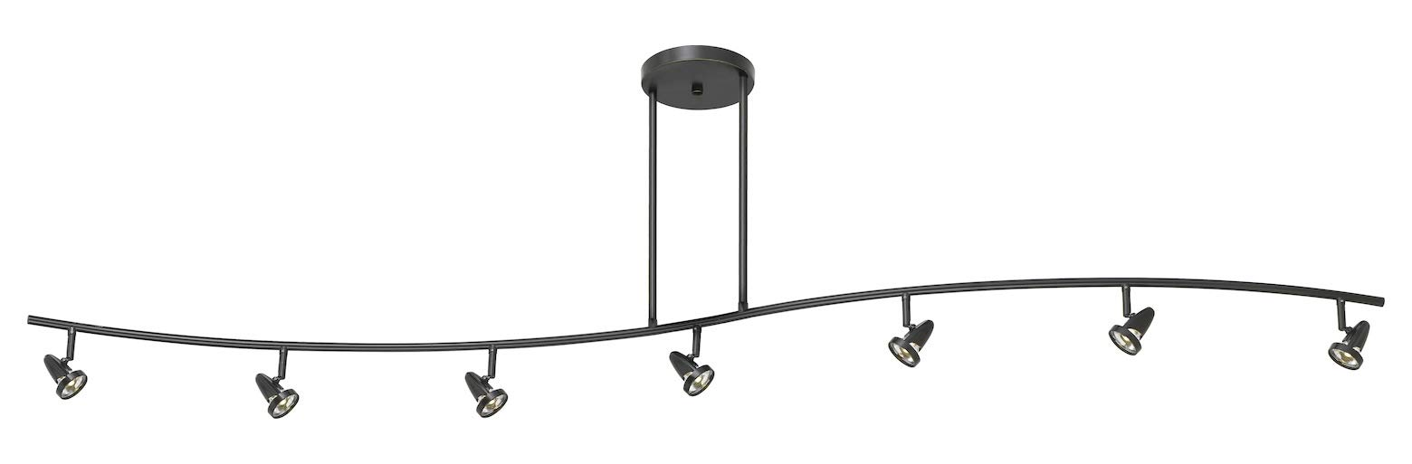 40W Intergrated Led Serpentine Rail Fixture. 1660 Lumen, 3300K. Fixture Comes Wi