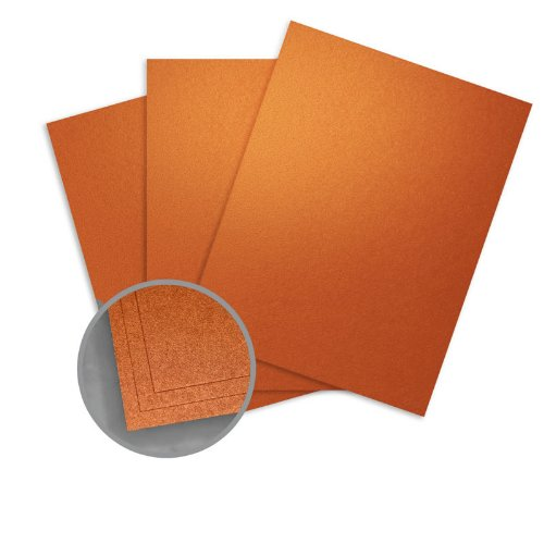 ASPIRE Petallics Copper Ore Card Stock - 8 1/2 x 11 in 98 lb Cover Metallic C/2S 200 per Package
