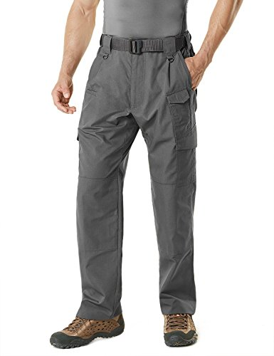 CQR CQ-TLP104-CYT_36W/30L Men's Tactical Pants Lightweight EDC Assault Cargo TLP104