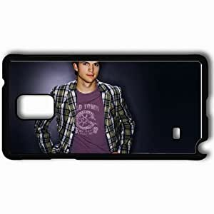 Personalized Samsung Note 4 Cell phone Case/Cover Skin Ashton Kutcher Black