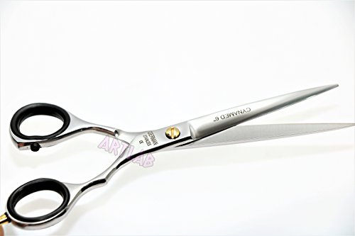 New! Professional Barber Scissors German Stainless Steel Shears with Polished Finish Size 6'' (CYNAMED) by CYNAMED (Image #4)