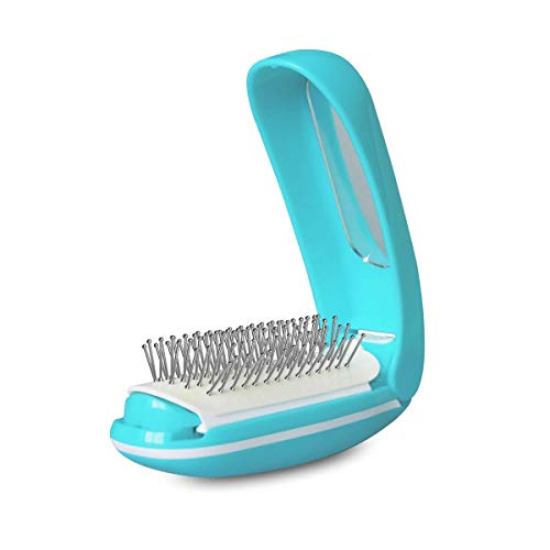 - Electric Detangling Brush Massage Brush Set Hair with Mirror & Travel Pocket High Frequency Vibration Metal Foldable Hair Comb Decompression Antic Static Natural Shine Gift for family friend Women Man