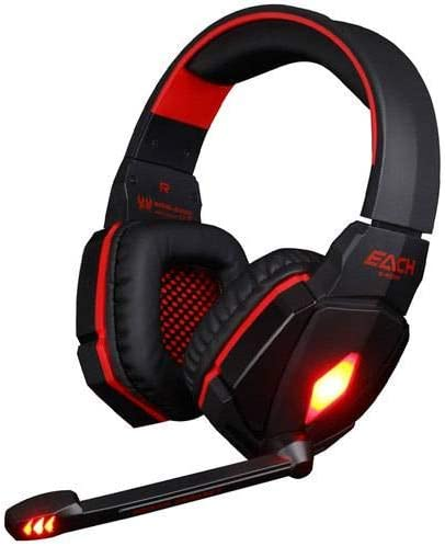 Headphone Stereo Gaming Headset with Mic Volume Control Red
