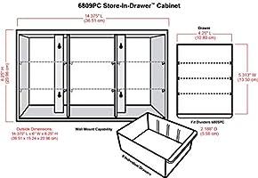 Store-In-Drawer Cabinet Art Bin Storage 6809PC