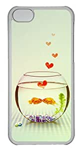 LJF phone case Apple iphone 4/4s Case - Goldfish Bowl Funny Lovely Best Cool Customize iphone 4/4s Cover