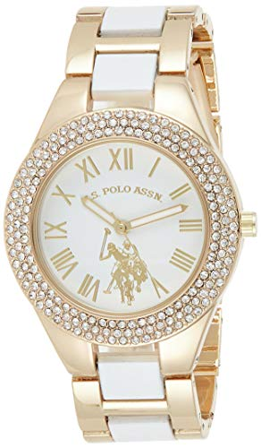 U.S. Polo Assn. Women's Analog-Quartz Watch with Alloy Strap, White, 19 (Model: USC40218AZ)