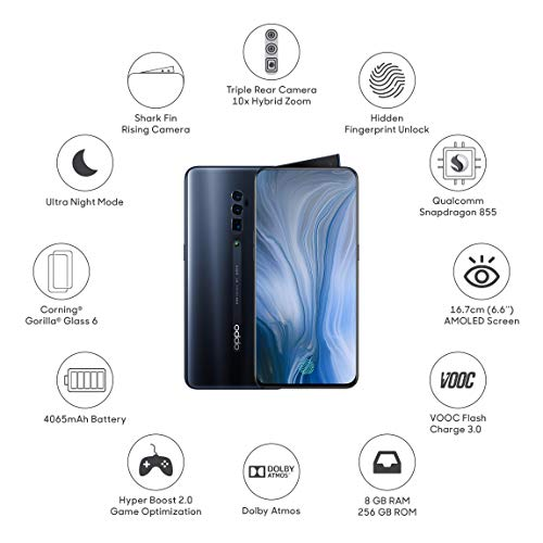 OPPO Reno 10x Zoom (Jet Black, 8GB RAM, 256 GB Storage) with No Cost EMI/Additional Exchange Offers 2