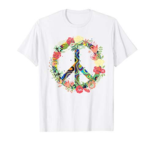 Peace Love Flowers 60s 70s Hippie Shirt Men Women Gift -