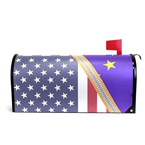 Alaza(mailbox cover) Bandera de la Unión Europea de Estados Unidos Cubierta magnética para buzón tamaño estándar 45,72...