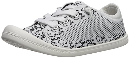 Madden Girl Women's Bailey-K Sneaker, White/Multi, 9 M US